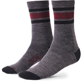 Chrome Merino Crew Socks Men charcoal/andorra
